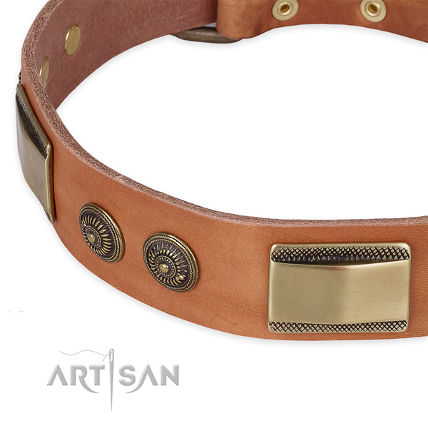 Best quality full grain leather collar for your stylish canine