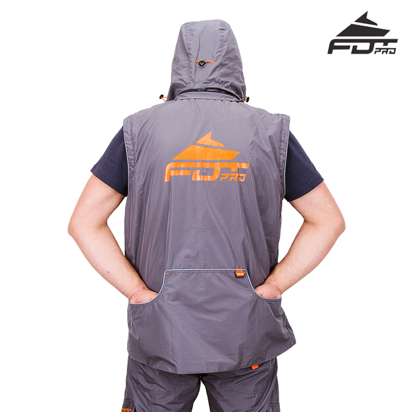 FDT Professional Dog Tracking Jacket with Back Pockets for your Convenience
