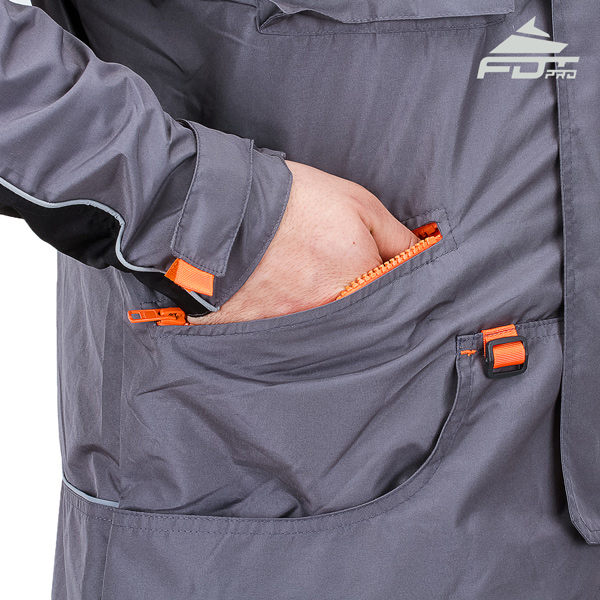 FDT Professional Dog Tracking Jacket with Back Pockets for All Weather