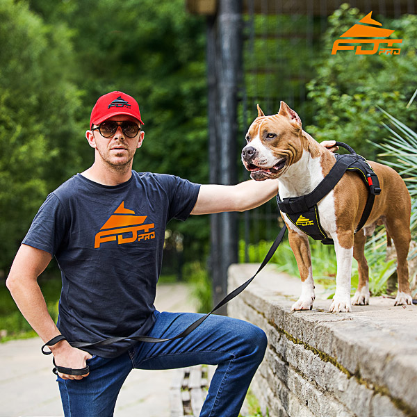 Men T-shirt of High Quality Cotton with FDT Pro Logo for Dog Trainers