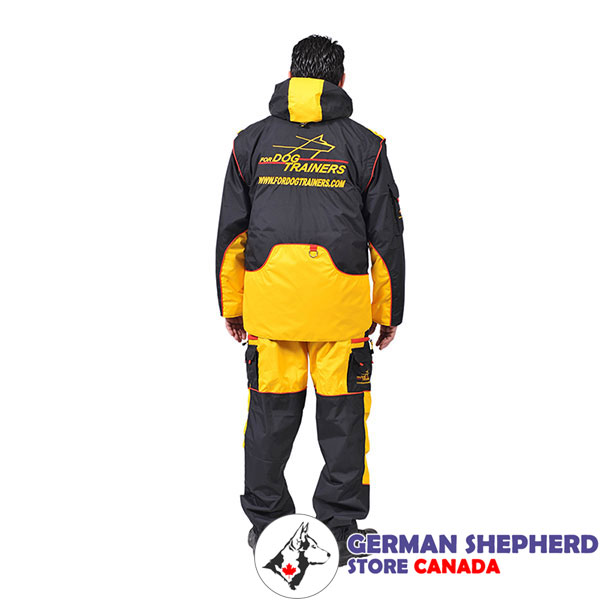 Membrane Material Dog Training Bite Suit with a Number of Pockets