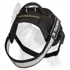 Pulling Nylon German-Shepherd Dog Harness With  Reflective Chest Strap