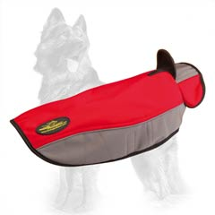 Nylon German Shepherd Coat with Hole for Leash Attachment