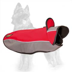 Nylon German Shepherd Coat with Protective Stand-Up Collar