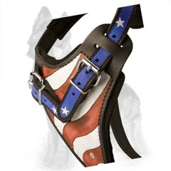 American Pride Painted Chest Plate of German Shepherd Harness