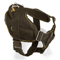 Adjustable Nylon German Shepherd Harness Reliably Stitched