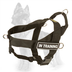 Professional Training Nylon German Shepherd Harness with ID Patches