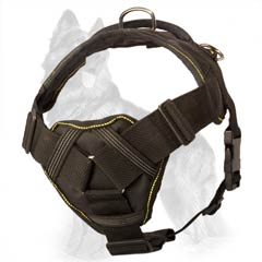 Nylon German Shepherd Harness with Soft Chest Plate