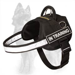 Multipurpose Nylon German-Shepherd Dog Harness With  Reflective Chest Strap