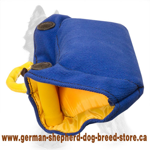 German Shepherd Bite Builder French Linen Bite for Puppy and Young Dog