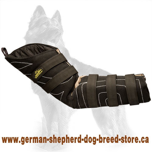 French Linen Hidden German Shepherd Bite Sleeve