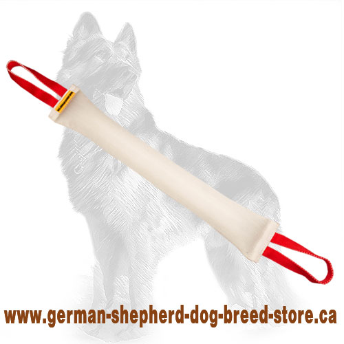 Large Fire Hose German Shepherd Bite Tug with Two Handles