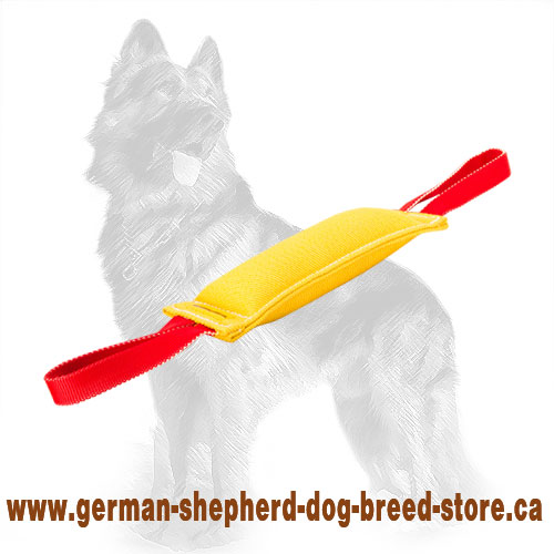 French Linen German Shepherd Bite Tug with Two Handles