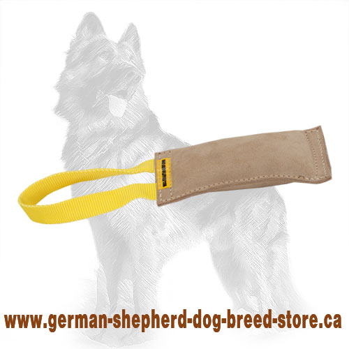 Leather German Shepherd Bite Tug for Puppies and Young Dogs