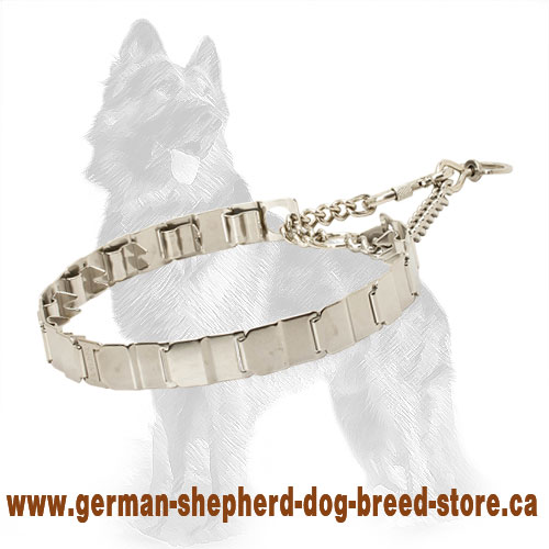 Martingale Neck Tech Collar Herm Sprenger of Stainless Steel