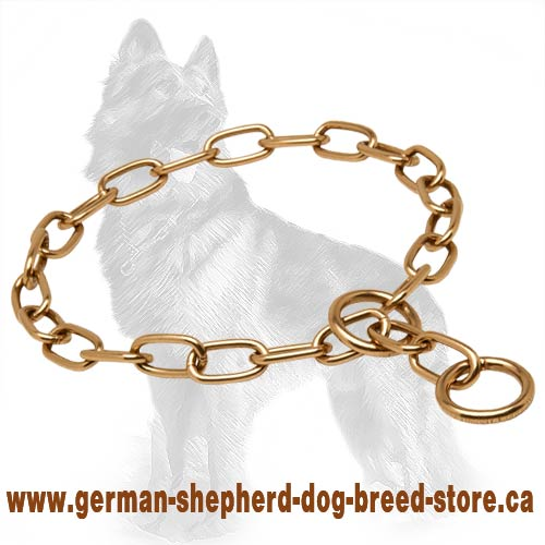 Herm Sprenger Fur Saver Choke Collar Curogan for German Shepherd