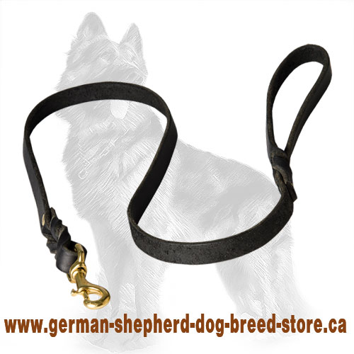 Handcrafted Leather German Shepherd Leash