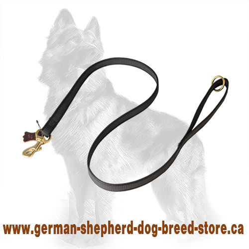 Gentle feel100% cotton i-grip dog leash with power-rubber lines