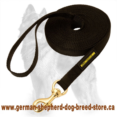 Long Nylon German Shepherd Leash for Training and Tracking - 13 to 33 FT Leash