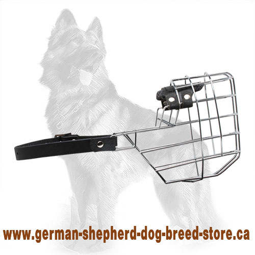 'The Silencer' Wire Basket Dog Muzzle for German Shepherd
