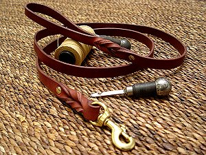 leather dog lead for training,walking,tracking