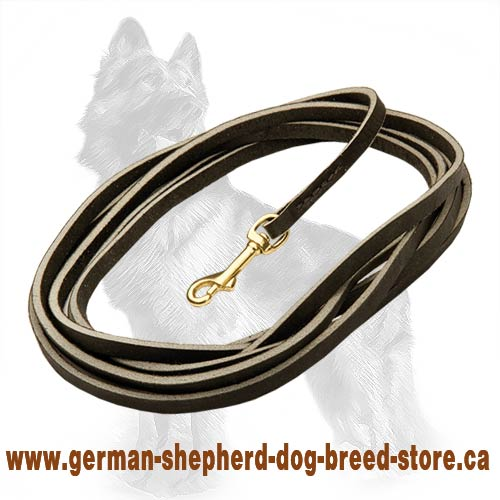 The Best Tracking Leather German Shepherd Dog Leash With  Brass Snap Hook