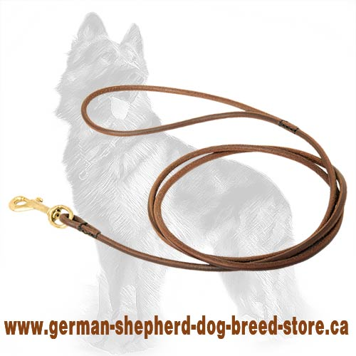 Round Leather German Shepherd Leash Perfect for Dog Shows
