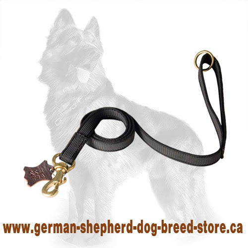 I-Grip Nylon German-Shepherd Leash with Brass Floating Ring