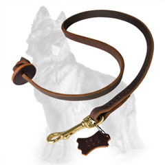 German-Shepherd Leather Dog Leash for Obedience  Training