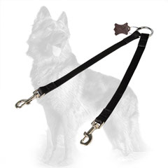 German Shepherd Nylon Dog Coupler Comfortable for  Walking Two Dogs Together