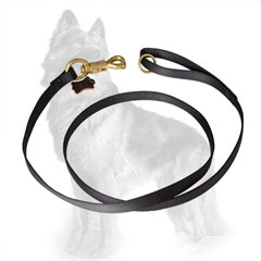 German-Shepherd Nylon Dog Leash with Floating Ring on  Handle