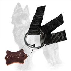 German-Shepherd Nylon Triple Dog Coupler Equipped with  Massive Ring that Combines its Nylon Parts
