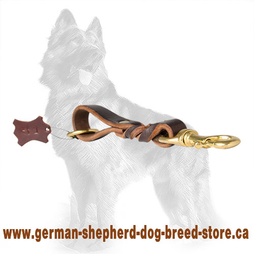 German Shepherd Short Leather Dog Leash for Dog  Control
