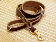 Handcrafted leather dog leash for walking and tracking 2-6 FOOT