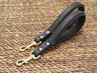 Short leather dog leash