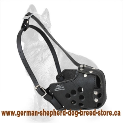 Military Dog Muzzle - Training Leather Dog Muzzle For German Shepherd