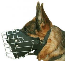 New Style Full Padded Wire Dog Muzzle For German Shepherd