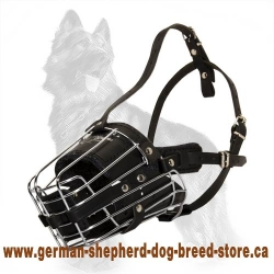 Super Protection Cage Muzzle With Leather Pads