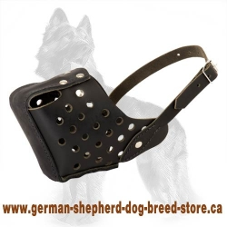 Leather Dog Muzzle - Fast And Easy To Wear