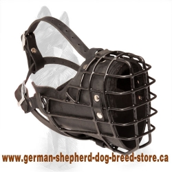 German Shepherd Winter Metal Cage Dog Muzzle Fully Padded