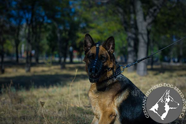 German Shepherd Muzzle with Wide Adjustable Straps