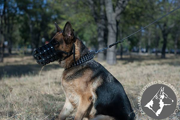 Extra Durable Leather German Shepherd Muzzle