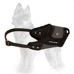 German Shepherd Agitation Dog Muzzle Made of Leather
