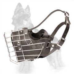 Full Grain Leather Padded Wire German Shepherd Dog