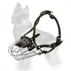 Metal German-Shepherd Muzzle with Soft Felt Padding