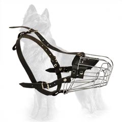 Safe Metal Dog Muzzle for German-Shepherd Breed