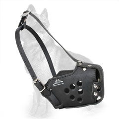 Leather German Shepherd Muzzle for Daily Walking