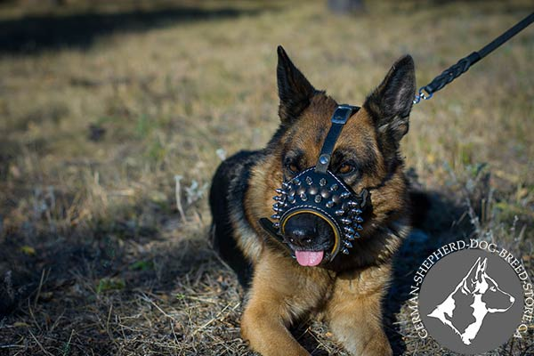 Free-Breathing German Shepherd Muzzle for Upgraded Comfort