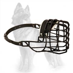 Wire Cage Dog Muzzle Rubber Covered for German Shepherd