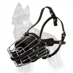 German Shepherd Metal Cage Muzzle